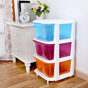 Children-three-drawer-storage-cabinets-baby-bedroom-font-b-clothes-b-font-locker-transparent-plastic-drawers